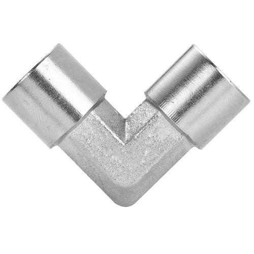 threaded fitting / 90° angle / hydraulic / pneumatic