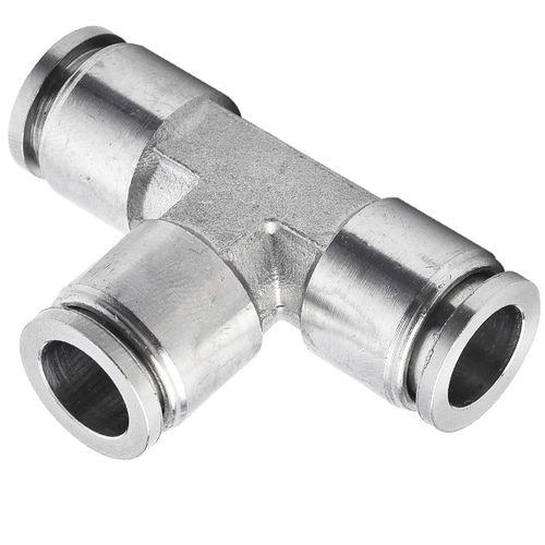 push-in fitting / push-to-lock / T / hydraulic