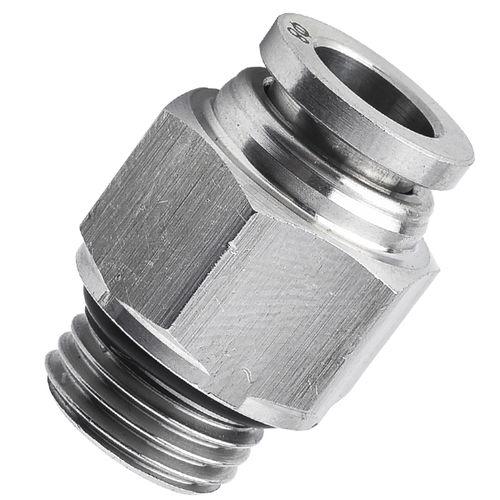 threaded fitting / push-in / push-to-lock / straight
