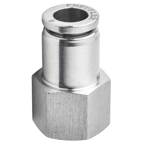 threaded fitting / push-in / push-to-lock / straight