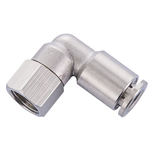 push-in fitting / threaded / elbow / pneumatic