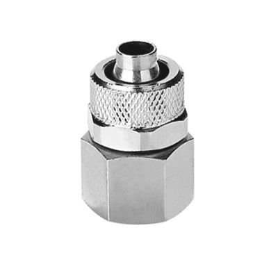quick coupling / straight / pneumatic / nickel-plated brass