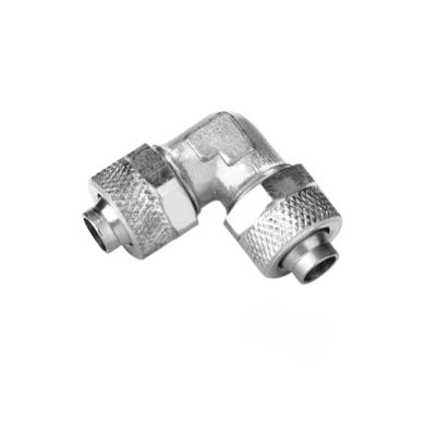 quick coupling / 90° angle / pneumatic / nickel-plated brass
