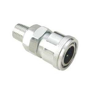 socket fitting / straight / pneumatic / steel