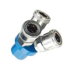 socket fitting / Y / pneumatic / steel