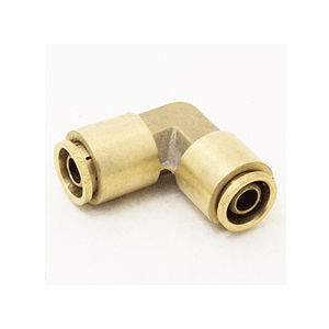 screw-in fitting / 90° angle / hydraulic / brass