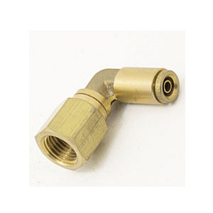 push-in fitting / elbow / pneumatic / brass