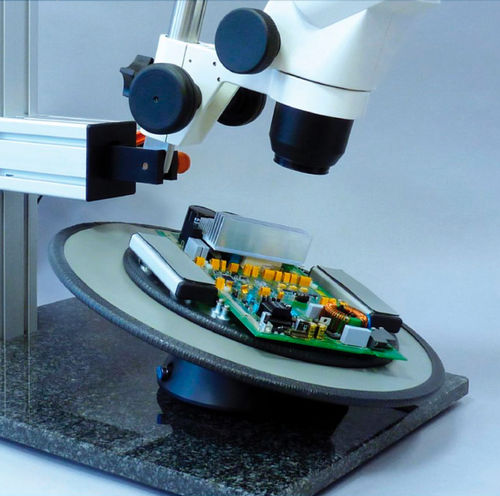 tilt stage / manual / for microscopes / vacuum-compatible