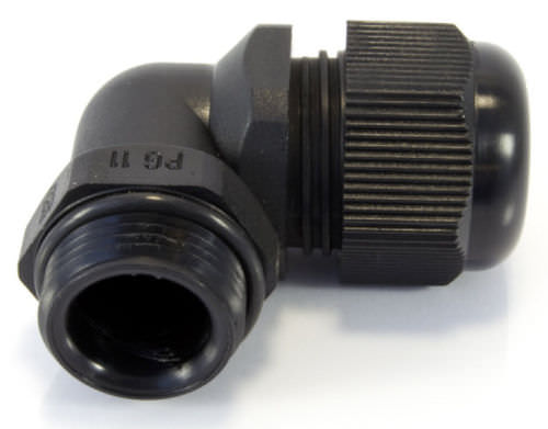 polyamide cable gland / IP68 / elbow