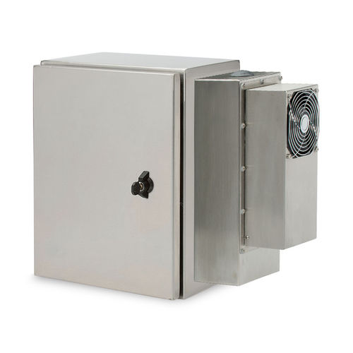 wall-mount enclosure / built-in / rectangular / electronic equipment