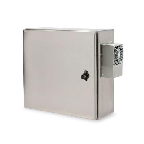wall-mount enclosure / built-in / rectangular / electronic equipment
