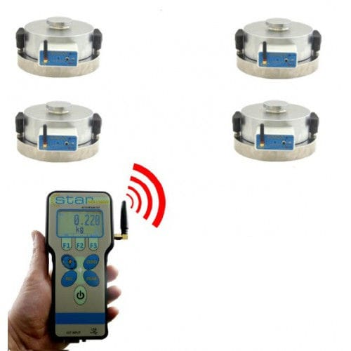 compression load cell / pancake type / high-precision / stainless steel