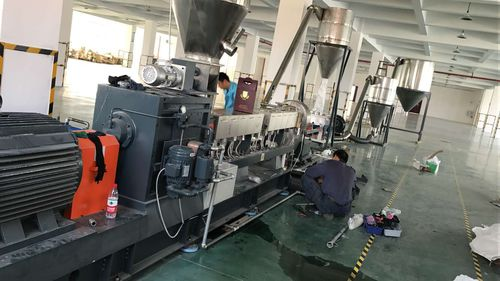 compounding extruder / for biodegradable thermoplastics / for PLA / co-rotating twin-screw