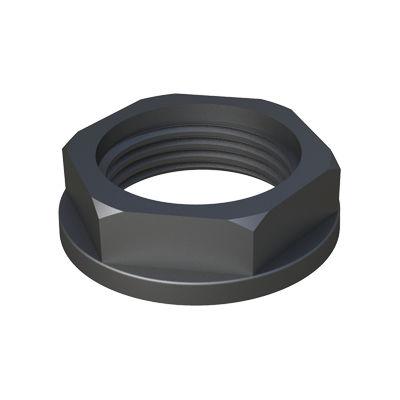 hexagonal nut / flange / flat / nylon