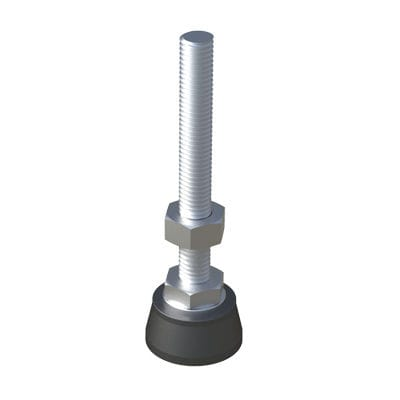 machine foot / polyamide / leveling / for heavy loads