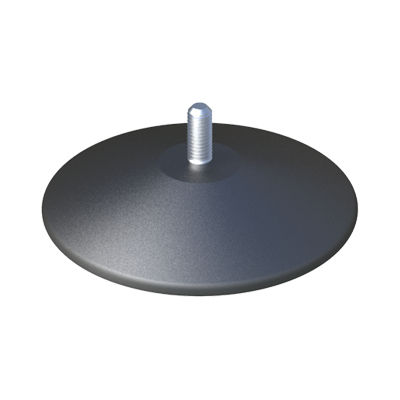 machine foot / zinc-coated steel / polypropylene / adjustable