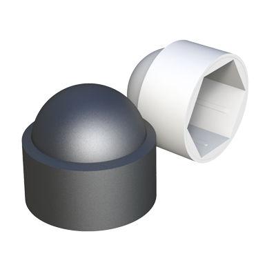 threaded cap / hexagonal / low-density polyethylene / protective