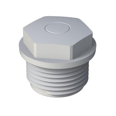 hexagonal plug / threaded / low-density polyethylene (LDPE)