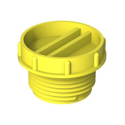 round plug / threaded / low-density polyethylene (LDPE) / protection