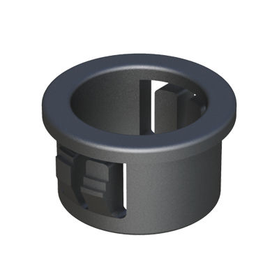 snap-in bushing / polyamide / nylon / for cables