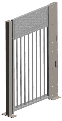 swing door / for night access / industrial / safety