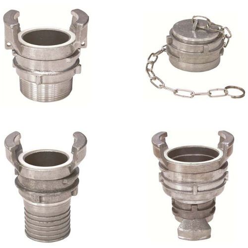 barbed fitting / straight / hydraulic / aluminum