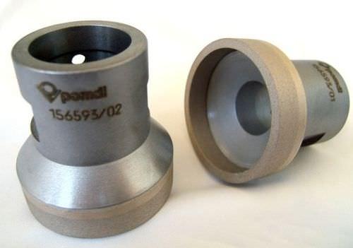 Finishing grinding wheel / cylindrical / peripheral / diamond POMDI - HERRAMIENTAS DE DIAMANTE SA