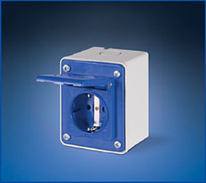 panel-mounted electrical socket / built-in / IP44