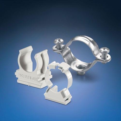 screw pipe clamp / plastic