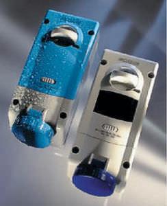 wall-mounted electrical socket / built-in / IP67 / interlocked