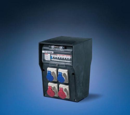 equipped electrical enclosure / rubber / power distribution / pre-assembled