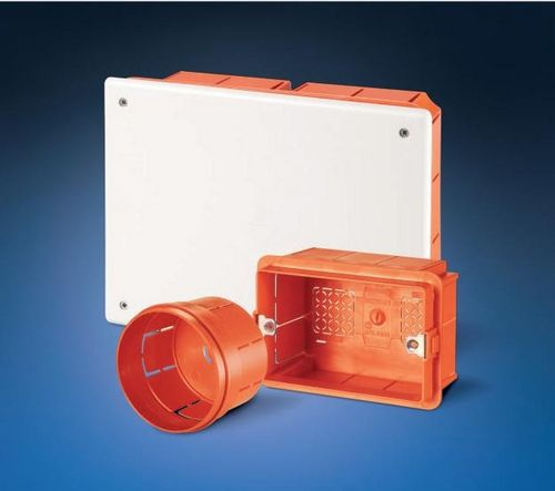 flush-mount junction box / explosion-proof / plastic / with knockouts