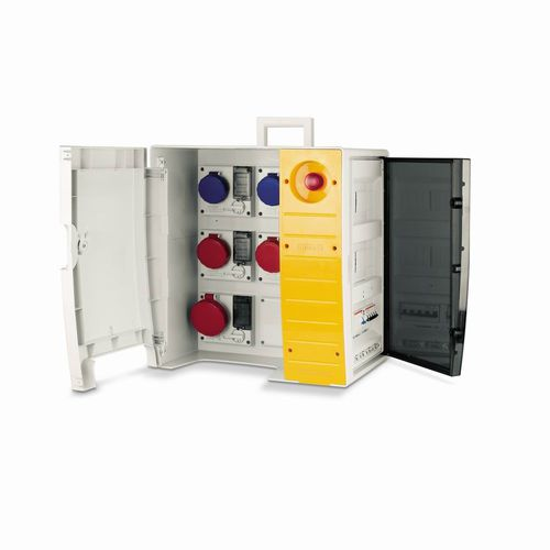 construction site electrical enclosure / equipped / portable / plastic