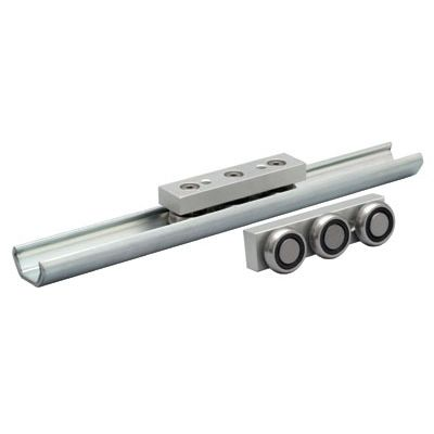 Precision rail / slide / stainless steel / skate wheel PBC Linear