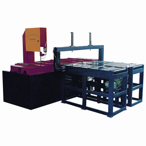 band saw / with cooling system / variable-speed / with automatic feeder