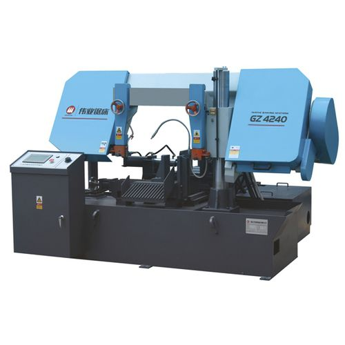 Band saw / for pipes / with cooling system / with roller conveyor CE 400Hx400W GZ4240 Zhejiang Weiye Sawing Machine Co., Ltd