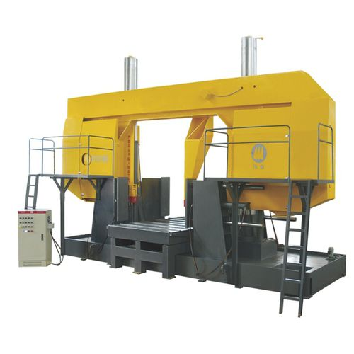 Band saw / metal / for pipes / with cooling system CE 1800Hx1800W GY42180 Zhejiang Weiye Sawing Machine Co., Ltd