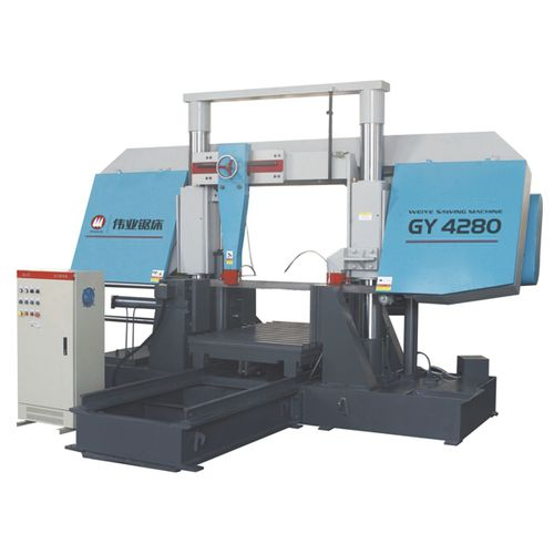 Band saw / metal / for pipes / with cooling system CE 800Hx800W GY4280 Zhejiang Weiye Sawing Machine Co., Ltd
