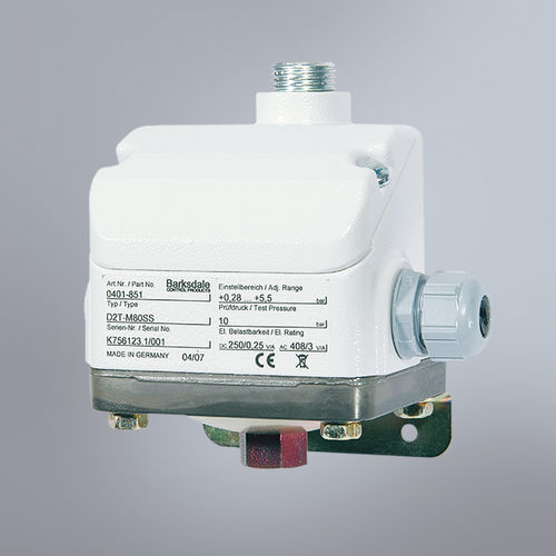 diaphragm pressure switch / adjustable / stainless steel