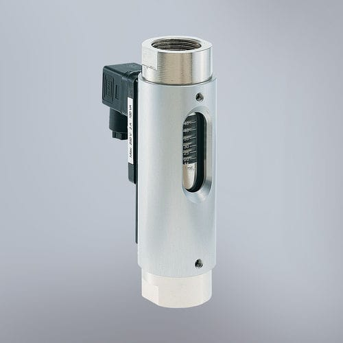 variable-area flow switch / for liquids / rugged / with indicator