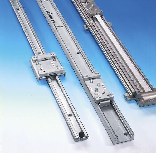 slide linear guide / steel / profiled rail