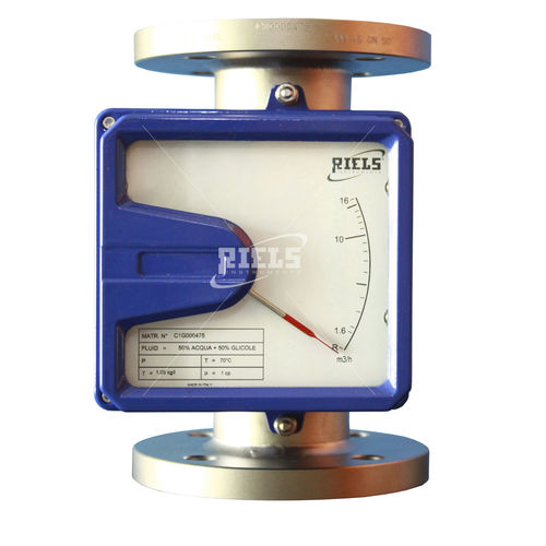variable-area flow meter / for corrosive fluids / with alarm function / metal tube