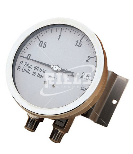 analog pressure gauge / differential / process / for gas