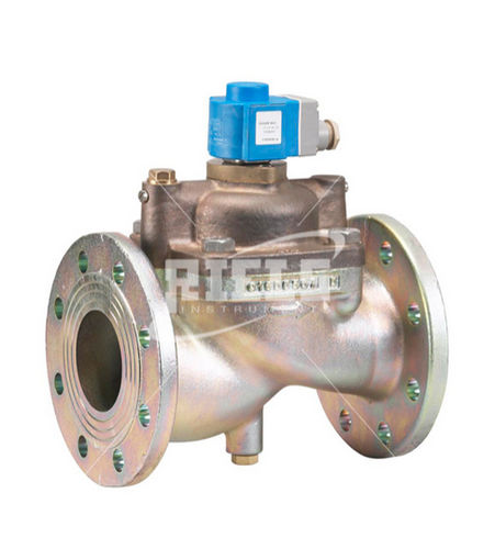pilot-operated solenoid valve / 2/2-way / rugged