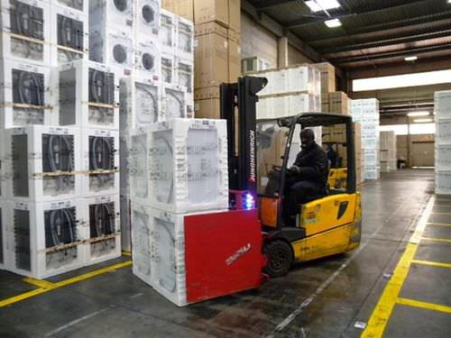Carton clamp / for forklift trucks i-MOVE series BOLZONI S.p.A.