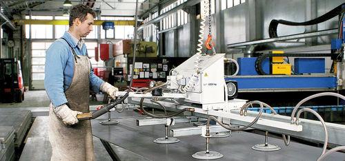 sheet metal vacuum lifting device / electric / horizontal