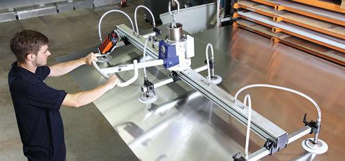 sheet metal vacuum lifting device / for aluminum plate / horizontal / secure
