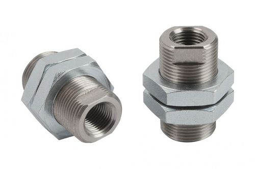 round tube connector / metal / screw-in