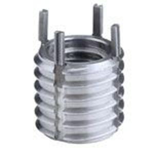threaded insert / key-lock / carbon steel / round