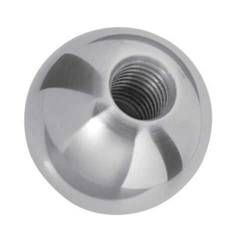 threaded knob / ball / brass / in plastic